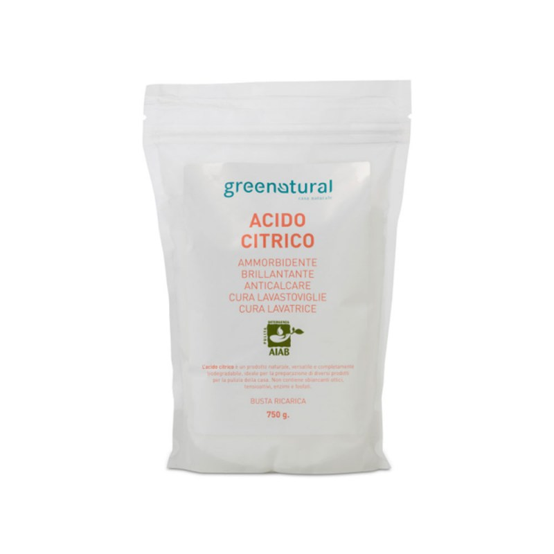 Acido citrico Greenatural 750 gr - Famideal