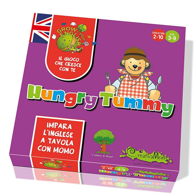 Offerte giochi da tavolo per bambini: Grow your English Hungry Tummy Creativamente – Famideal