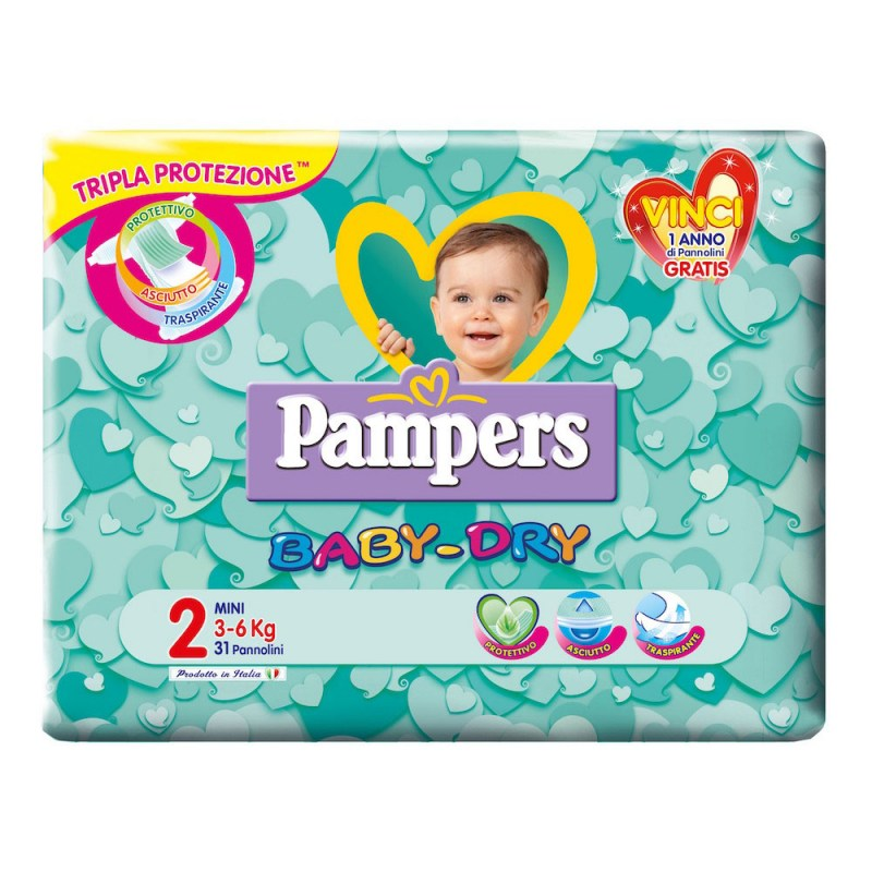 Offerte e sconti pannolini: Pampers Baby Dry mis. 2 Mini – Famideal