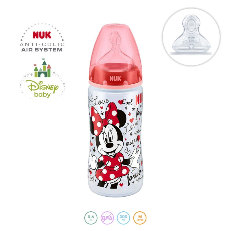 Offerte biberon: Biberon NUK First Choice+ Disney Minni 300ml – Famideal