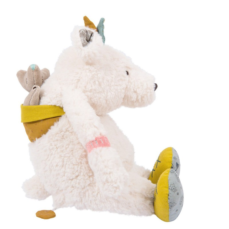 Offerte Peluches musicali Famideal: Orso bianco Pom Le voyage d'Olga - Moulin Roty  – Famideal