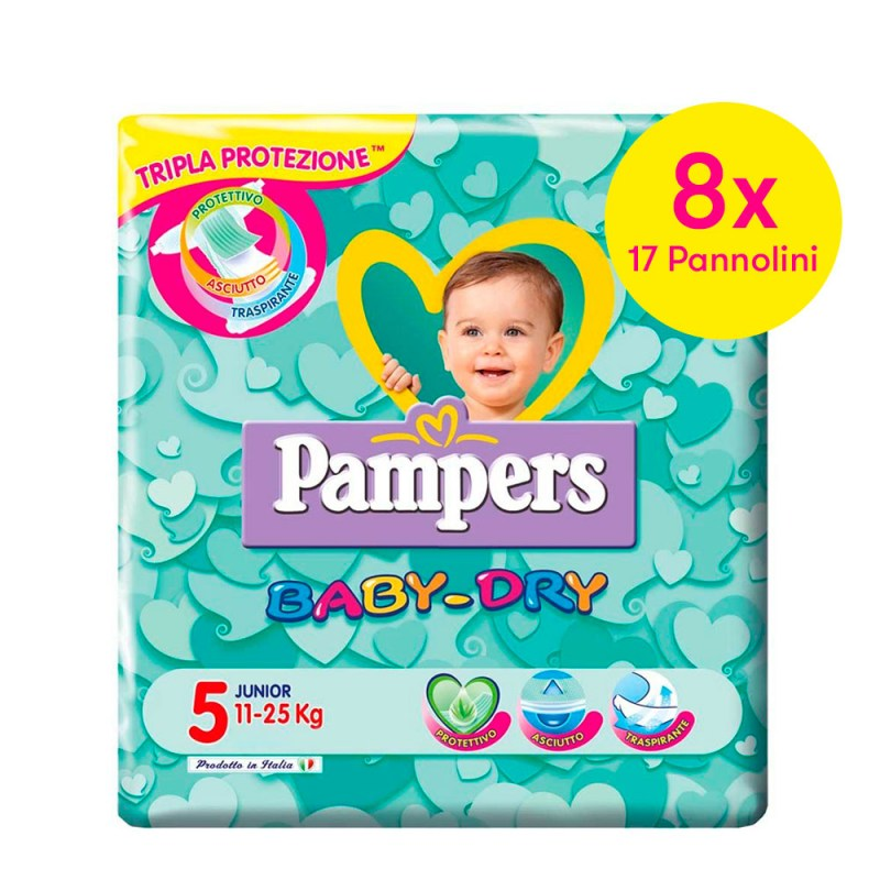 Offerte e sconti pannolini: Pampers Baby Dry mis. 5 Junior – Famideal