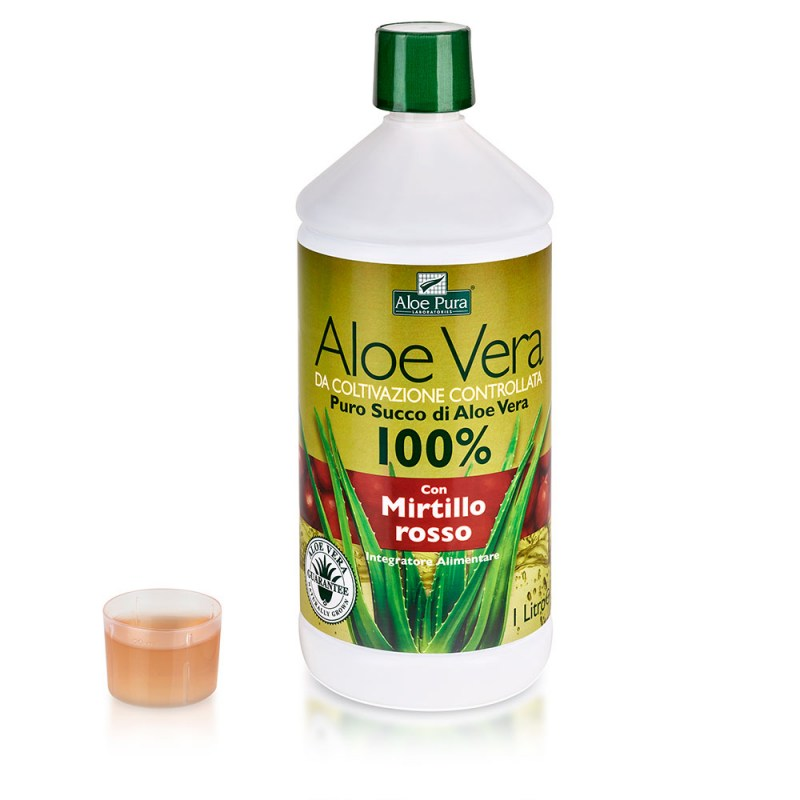 Offerte integratori naturali: Aloe Vera Succo Mirtillo Optima Naturals – Famideal